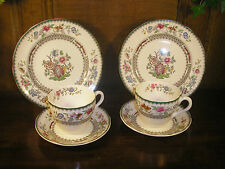 Spode CHINESE ROSE SETS of 2 TRIOS/CUPS, SAUCERS/PLATES