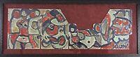 Authentique Miklos Neméth 1934-2012- 127cm RARE Peinture Huile Fauvisme Abstrait