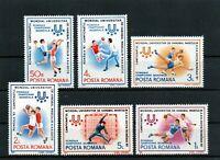 RUMANIA / ROMANIA / ROUMANIE año 1987 yvert nr. 3737/42  nueva balonmano