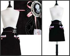 Jessie Steele LE 500 Cameo Eyelet Veronica Half Apron Black Pink Removable Pin