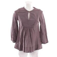 COMPTOIR DES COTONNIERS Bluse Gr. DE 36 FR 38 Lila Weiß Damen Oberteil Shirt