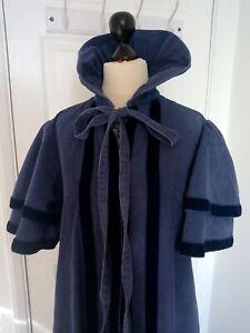 Laura Ashley Jane Austen Regency blue cape coat - Ditsy Vintage SUPER RARE 1960s