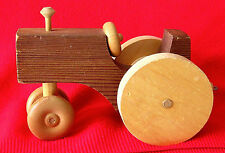 TOY TRACTOR - WOOD - HAND MADE - TWO TONE - 18 MONTHS TO 3 YEARS, BOYS & GIRLS