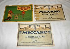 HOW TO USE MECCANO PARTS - INSTRUCTION BOOKS No.27 & No.28 TOTAL 3 BOOKS