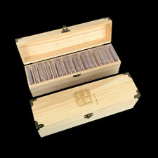Wooden Storage Box for 20 Rating Coins Capsules Collection Holder Display Case