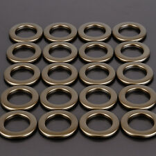 20Pcs Round Plastic Ring for Eyelet Curtain Circle Slide Rings Matt Coffee