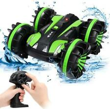 Amphibious Double-sided  RC Stunt Car 2.4Ghz Water & Land Remote Control Toy Kid