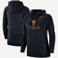 NIKE Texas Longhorns Black Ultimate LOGO Women's Pullover HOODIE Hoody