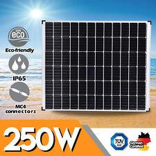 12V 250W Solar Panel 250 Watt Mono Caravan Camping Home Battery Charging Power