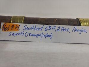 Southbend Fibre de Verre Cinq Œillet Deux Pièce 6 1/0.6m Pêche Mât Tige fs36