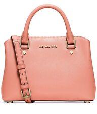 NWT MICHAEL Kors SAVANNAH Small Satchel Peach Pink HANDBAG ~MSRP$298