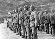 WWII B&W Photo Japanese Soldiers in Formation World War Two Japan WW2  / 2298