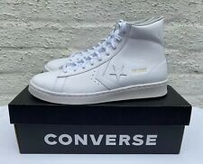 CONVERSE PRO LEATHER MEN'S WHITE MID TOP TRAINERS BNIB EU 45 UK 10