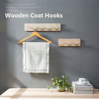 Wood Coat Hanger Wall Hook Clothes Hangers Key Holder Wall Mounted Coat Rack