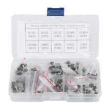 200pcs 10types Npn Pnp Power Transistor Kit Set Bc337 Bc547 2n2222 S8050 With Box