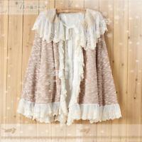 Mori Girl Popular Woolen Long Sleeve Coat Sweet Lolita Versatile Cardigan Tops
