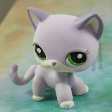 LPS COLLECTION LITTLEST PET SHOP light grapes green eyes CAT KITTY RARE TOY 2""