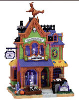 """LEMAX Spooky Town """"Agatha's Costume Crypt"""" Sights Inside Scene Halloween Village"""