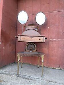 1900s Cherry Koken? Shaving Stand Double Mirror Barber Shop Twist Bathroom