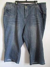 Ashley Stewart Jeans Cropped Capri Medium Wash Women's Size 22 New