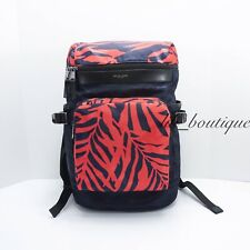 NWT Michael Kors Men's Kent Cycling Tablet Backpack Nylon Camo Indigo Red Multi