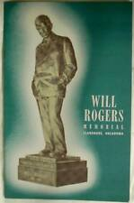 Will Rogers Memorial Pamphlet Brochure Booklet 1950s Claremore Oklahoma USA 20pg