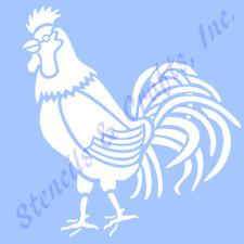 "4"" ROOSTER STENCIL PRIMITIVE STARS CRAFT STENCILS TEMPLATE FARM BIRD PAINT NEW"