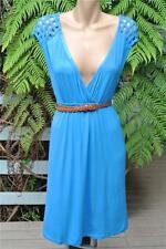CROSSROADS BLUE Dress - Belt Included - Lattice Trim Size Large-16 NEW rrp$39.95