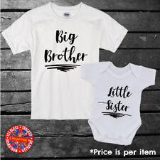 Big & Little Brother & Sister Kids T-shirt, Baby Grow. Boys, Girls, Gift, Set