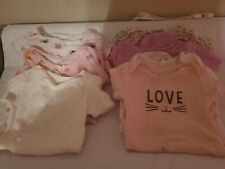 12 Month One Piece Bodysuit Clothing Lot Baby Girl Carter's, Garanimals