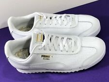PUMA Men's Sneakers Shoes Roma Basic Classic Perf White 363809-02 Size 7.5 US