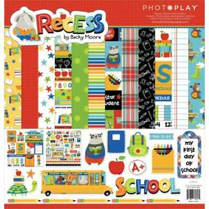 SCHOOL RECESS Collection Pack 12X12 Scrapbooking Kit Photo Play REC2398 New