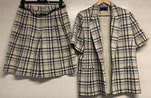 Alexon check ivory mix smart casual suits size 16