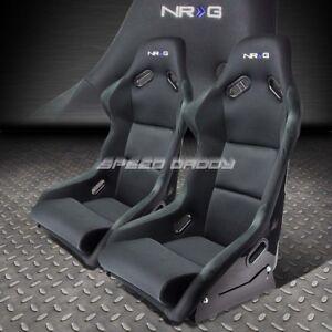 PAIR NRG BUCKET RACING SEAT/SEATS FIBER GLASS/STEEL LEFT+RIGHT