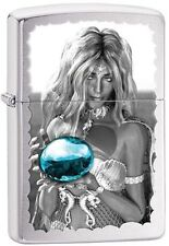 Zippo 28651 Mermaid and Blue Orb Brushed Chrome Lighter