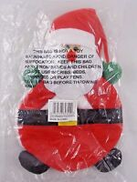 "Christmas Ornament Pouch SANTA CLAUS 9"" NEW Storage"