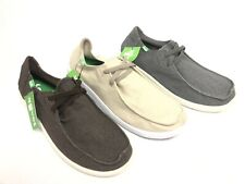 Sanuk Men's Shaka Canvas Slip On Shoes 1109242 Khaki Brindle Grey