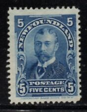 Newfoundland Sc 85 1899 5c blue Duke of York stamp mint Free Shipping