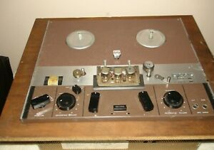 Ampex F4492 Reel to Reel Recorder  No Power Cord, Case or tubes