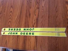 Rare Old John Deere 112 Hood Decals one hole