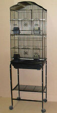 Tall Large ShellTop Cockatiel Parakeet Finch Canary Bird Cage With Stand -682