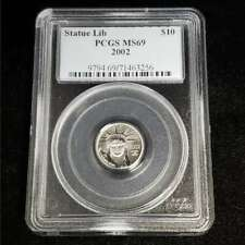 2002 American Platinum Eagle $10 1/10oz PCGS MS69 Proof Statue Lib Coin KV3256