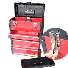 Toolbox Organizer Versatile Plastic Toolbox Iron Pull Rod Tool Chest Storage Box