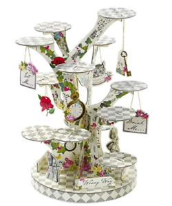 Alice In Wonderland Cupcake or Treat Stand Ceneterpiece for Tea Party Birthdays