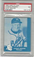 1960 Lake to Lake Dairy Charlie Dressen Milwaukee Braves  PSA 7 NM