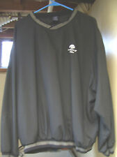 Big Ten University of Iowa Hawkeyes Black Pullover Windshirt Large