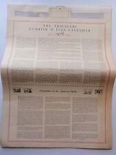 Vintage Travelers Currier & Ives Reproduction Lithograph Prints Calendar 1978
