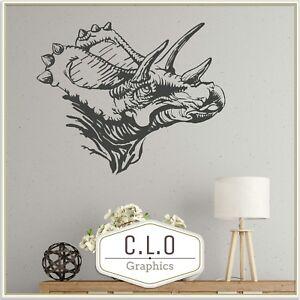 Triceratops Wall Sticker Giant Dinosaur Vinyl Transfer Interior Boys Art Decal