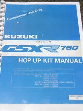 SUZUKI GSXR 750 Slingshot Hop-up kit manual competition racing enhancements