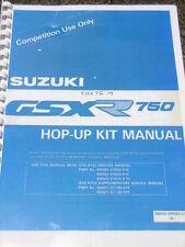 Suzuki GSXR 750 Slingshot Hop-up Kit mejoras de carreras competencia Manual